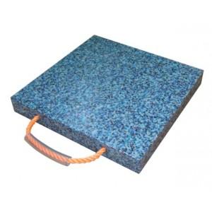 Patin carré en polyéthylène pour stabilisateurs de grues et nacelles - Capacité 4 t à 30 t - Format 300x300 mm à 800x800 mm