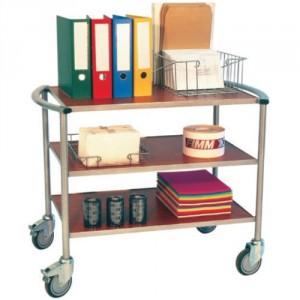 880*5696 - Servante de bureaux 3 plateaux bois 150 kg