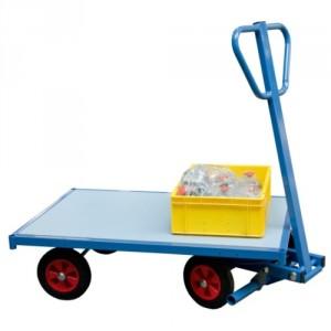 800*7107 - Chariot 500 kg nu avec plateau 1200 x 800 mm adapté au transport de palettes Europe