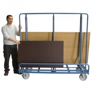800*7296 - Chariot porte baies avec 2 cotés de chargement - Capacité 600 kg