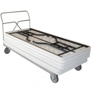 800*7628 - Chariot porte tables rectangulaires empilables - Capacité 400 kg