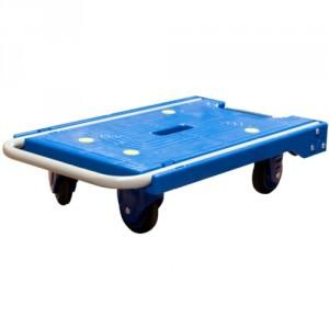 Chariot à dossier rabattable avec plateau en polypropylène - Capacité 120 kg