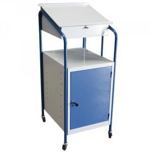 820*5970 - Pupitre d'atelier avec bloc tiroirs