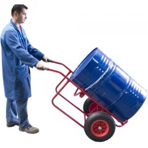 840*225 - Diable chantier pour fûts métalliques roues PN 250 kg