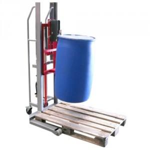 Elévateur à fûts métalliques et plastiques à rebords - Capacité 300 kg
