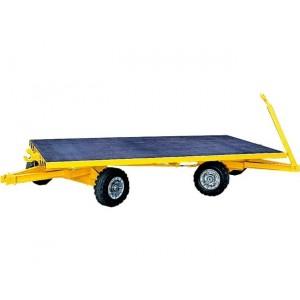 870*470 - Remorque industrielle sur couronnes à billes à 2 essieux directeurs - Plateau 3000x1500 mm - Capacité 5 t
