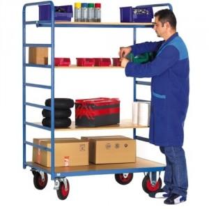 880*6203 - Capacité 500 kg, 7 niveaux, dimensions utiles 1200x800 mm, hauteur 1420 mm, poids 51 kg + 3 options plateaux 882*3431