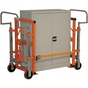 Chariot porte meuble avec élévation par vérin hydraulique - Capacité 1800 kg