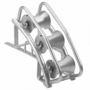Galet de bord de chambre - Pour tirage de câbles en angle de 45°