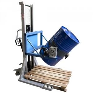 Gerbeur retourneur manuel de fûts métalliques 220 l - Capacité 350 kg