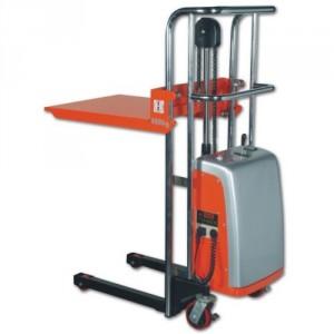 Gerbeur semi-électrique pour préparation de commande JE avec fourches ajustables - Capacité 400 kg