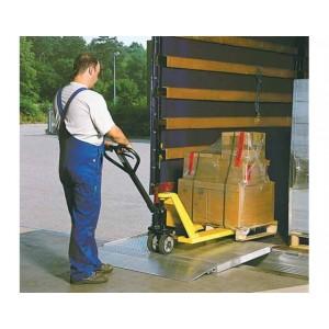 HF - Pont de chargement en aluminium amovible avec profil alvéolé et BEC ARTICULE - Capacité 1600 kg à 4000 kg