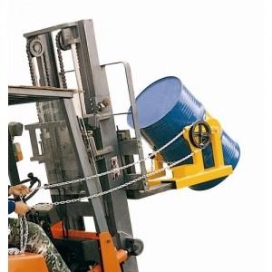 Basculeur de fût acier 210 litres enfourchable - Capacité 360 kg