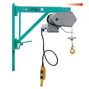 Elévateur de chantier ETR 200N avec potence TELESCOPIQUE - Capacité 200 kg, Hauteur de levage 25 m, Vitesse 19 m/min