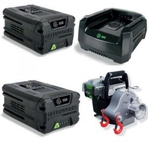 KIT avec batterie + chargeur PORTABLE WINCH PCW3000-Li-BK