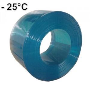 Lanière PVC transparente GRAND FROID -25°C nervurée largeur 200 mm et 300 mm - Rouleaux de 50 m