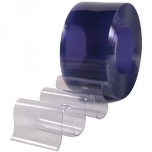 Lanière PVC transparente ANTI-BACTERIENNE largeur 150 mm à 400 mm - Rouleau de 50 m