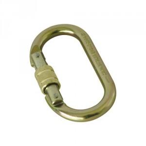 Connecteur acier M10, connexion permanente, verrouillage manuel à vis, ouverture 17 mm