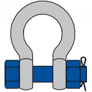 Manille lyre HR avec axe boulonné et goupillé MLBHR - Capacité 0,75 t à 150 t