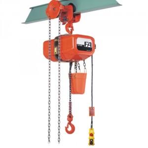 Palan électrique à chaîne ELEPHANT ESAG (monophasé 220 V 1 vitesse de levage) avec CHARIOT PORTE-PALAN à direction manuelle par chaîne - Capacité 0,5 t à 1 t