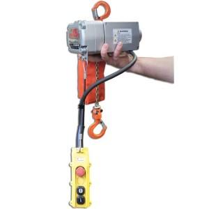 Palan électrique à chaîne ELEPHANT BETA Monophasé 220 Volts avec crochet de suspension - Capacité 125 kg et 200 kg