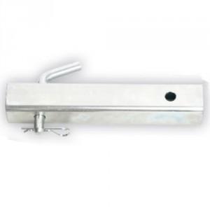 PCA-1267-Tube carré 50,8 mm avec goupille coudée