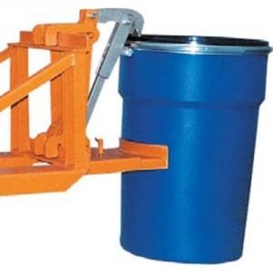 Pince automatique pour 1 ou 2 fûts plastiques à rebords - Capacité 0,8 t et 1,6 t