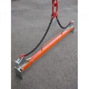 Pince pour bordures de trottoir de 1 m PBE avec élingue chaîne (SANS poignées) - Capacité 250 kg