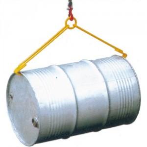 Pince DF pour la manutention horizontale de fûts plastiques et métalliques à rebords de 220 l - Capacité 0,5 t