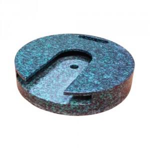 Patin rond en polyéthylène à fixer pour stabilisateurs de grues et nacelles - Capacité 10 t et 15 t - Ø 400 mm et 500 mm