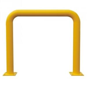 Arceau de protection en tube diam. 120 mm, hauteur 1080 mm, longueur 1250 mm, 2 platines de 200x200 mm, poids 47 kg