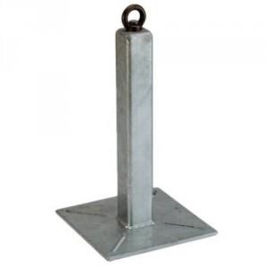 Potelet point d'ancrage galvanisé PTA hauteur 500 mm - Conforme EN 795-A