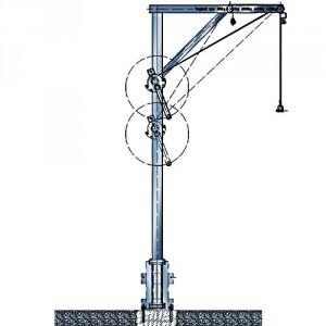 Potence transportable en ALUMINIUM - Capacité 160 kg, portée 0,60 m à 1 m