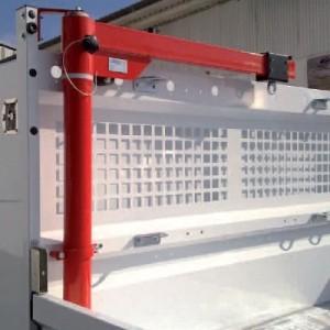 Potence de véhicule PVL avec palan manuel à chaîne - Capacité 250 kg, portée 1 m