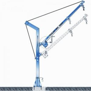 Potence transportable zinguée ou inox - Capacité 350 kg, portée 1,40 m à 2 m