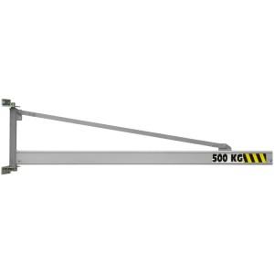 Potence murale à rotation 180° PMTC ALU avec flèche triangulée en profil creux ALUMINIUM - Capacité 0,063 t à 2 t