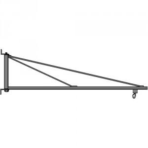 Potence murale légère en acier INOX à rotation 180° PMTLI avec flèche triangulée en profil creux - Capacité 50 kg, 80 kg et 100 kg