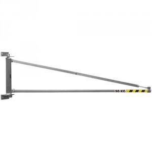 Potence murale légère PORTE-OUTILS à rotation 180° PMTL avec flèche triangulée en profil creux - Capacité 50 kg, 80 kg et 100 kg