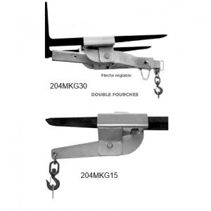 Potence MKG pour chariot élévateur - Capacité 1,5 t et 3 t