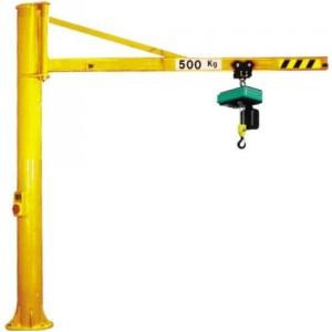 Potence sur colonne à rotation 270° PFT avec flèche triangulée en IPE - Capacité 0,15 t à 2 t