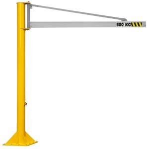 Potence sur colonne à rotation 270° PFTC ALU avec flèche triangulée en profil creux ALUMINIUM - Capacité 0,063 t à 2 t