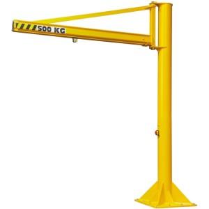 Potence sur colonne à rotation 270° PFTC avec flèche triangulée en profil creux - Capacité 0,05 t à 2 t