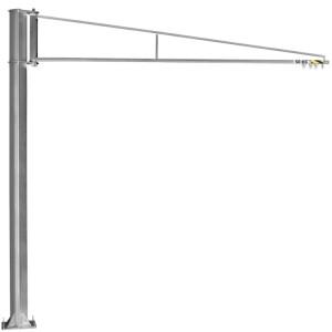 Potence sur colonne légère en acier INOX à rotation 270° PFTLI avec flèche triangulée en profil creux - Capacité 50 kg, 80 kg et 100 kg