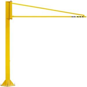 Potence sur colonne légère PORTE-OUTILS à rotation 270° PFTL avec flèche triangulée en profil creux - Capacité 50 kg, 80 kg et 100 kg