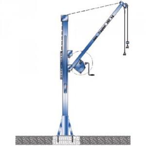 Potence transportable zinguée ou inox - Capacité 360 kg, portée 0,40 m à 1,3 m