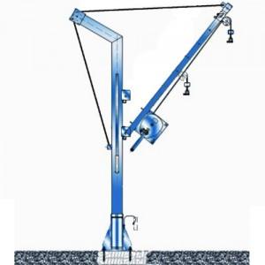 Potence transportable zinguée ou inox - Capacité 500 kg, portée 0,80 m à 1,30 m