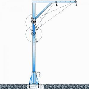 Potence transportable zinguée ou inox - Capacité 300 kg, portée 0,70 m à 1,30 m