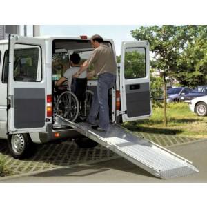RLK - Rampe en aluminium repliable en 2 parties pour fourgons & V.U.L. - Capacité 350 kg - Longueur 1,60 m à 2,80 m