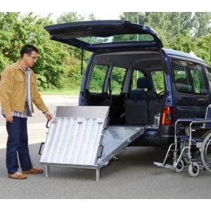 RLK-Z - Rampe en aluminium repliable en 3 parties pour fourgons & V.U.L. - Capacité 350 kg - Longueur 2,20 m à 2,90 m
