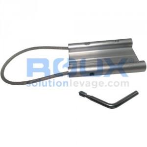Plaquette d'identification TAG en aluminium avec fermeture à vis